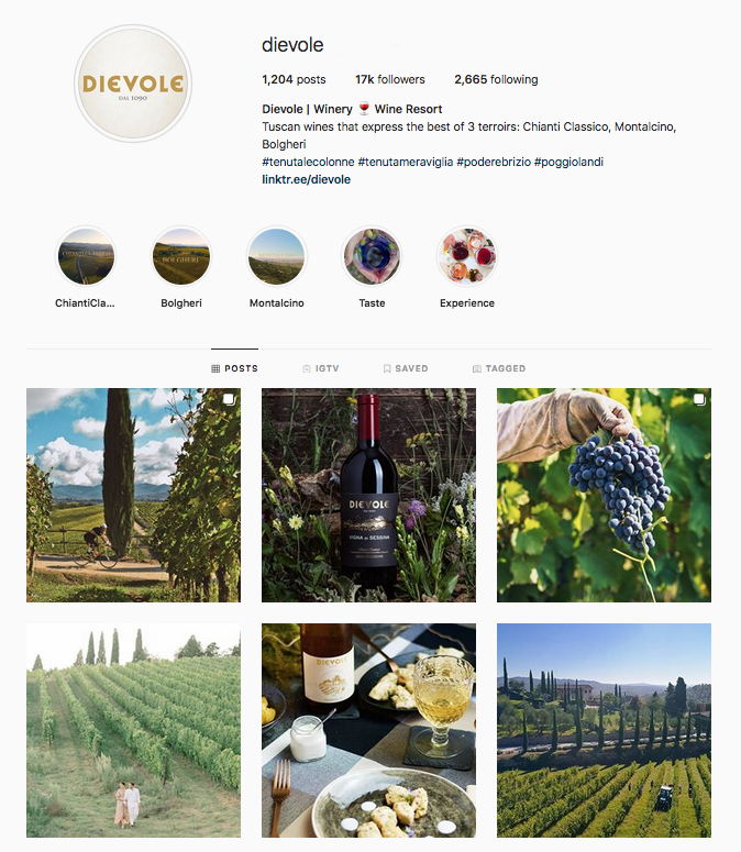 dievole social media wine