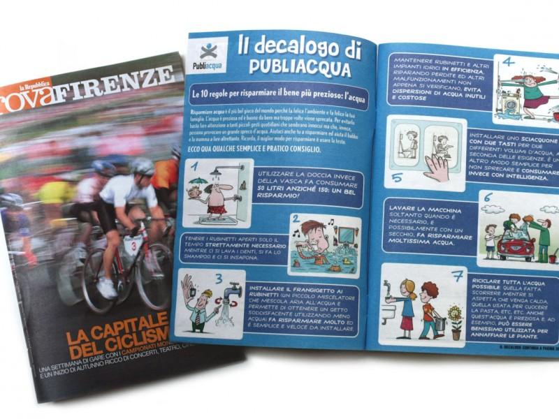 Publiacqua Illustrazioni e grafica
